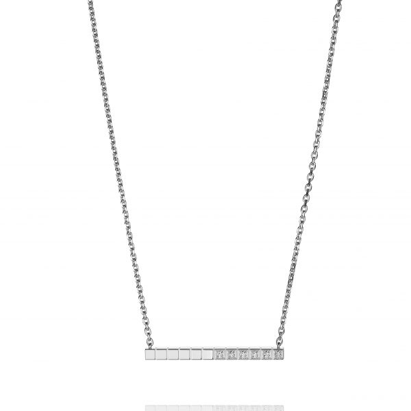 Chopard, Ice Cube Pure necklace in white gold with diamonds