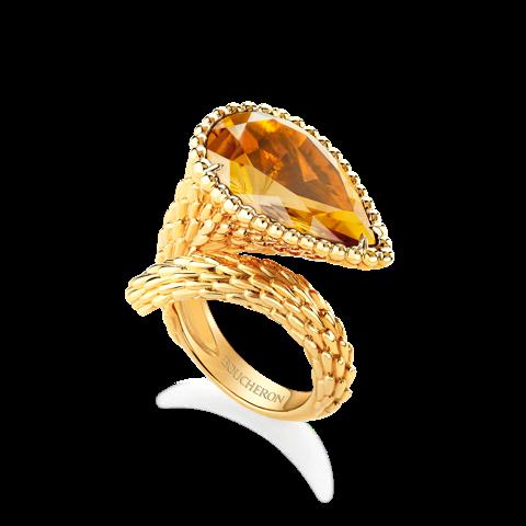 Boucheron Serpent ring Citrine