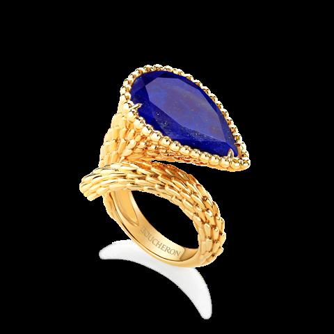 Boucheron Serpent ring Lapis Lazuli