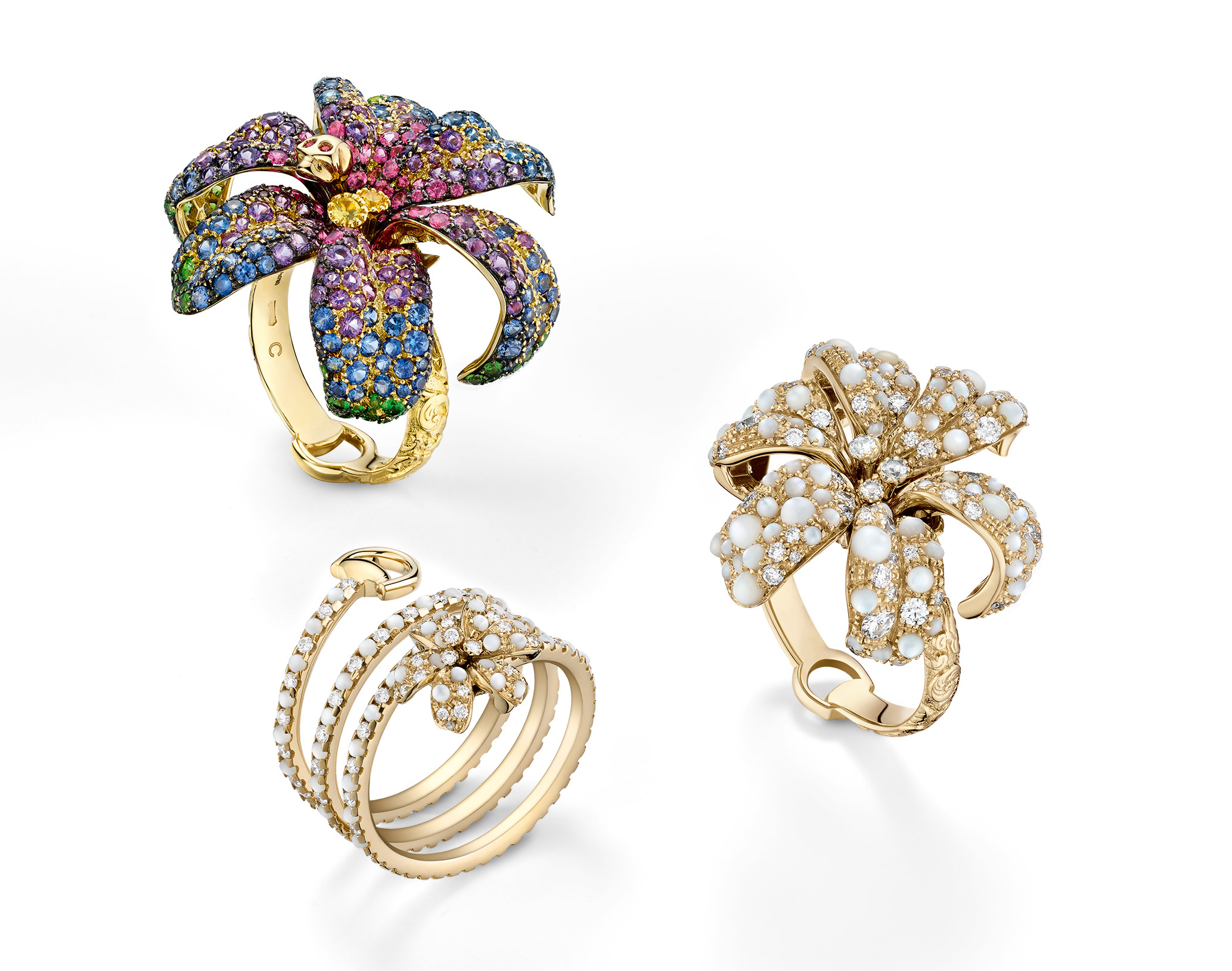 Gucci Flora rings
