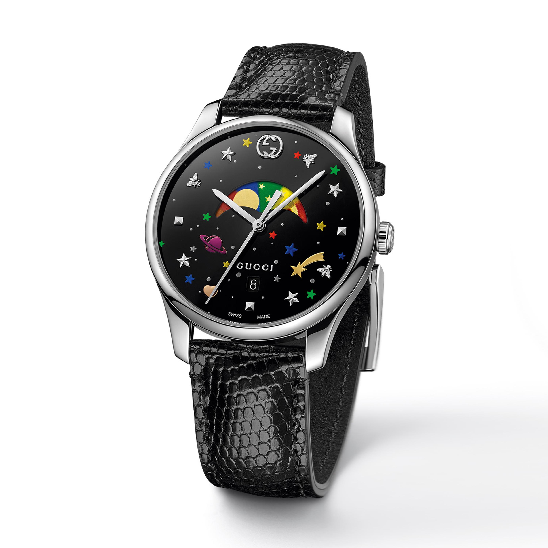 Gucci G-Timeless watch.