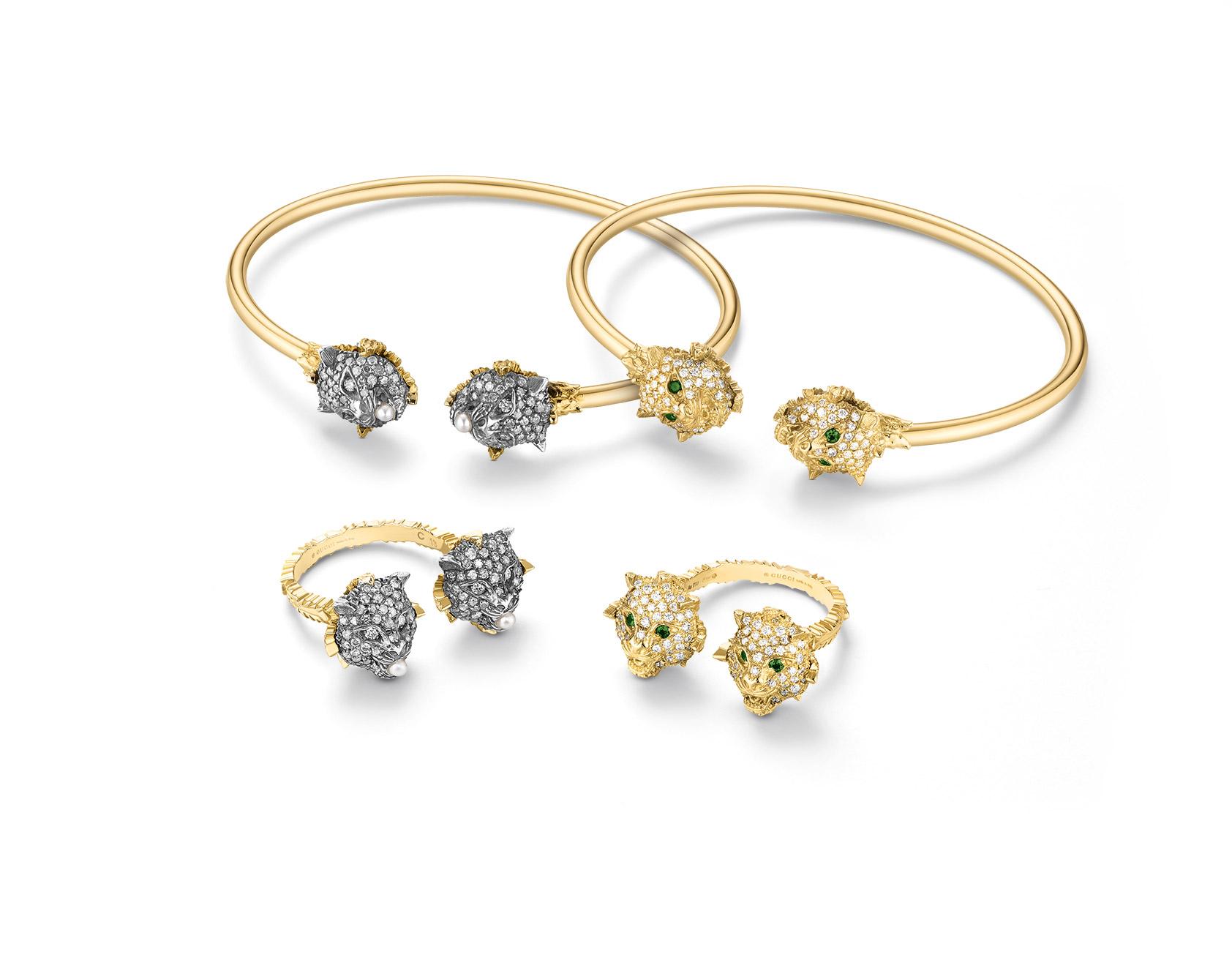 Gucci Marche des Merveilles rings and bangles