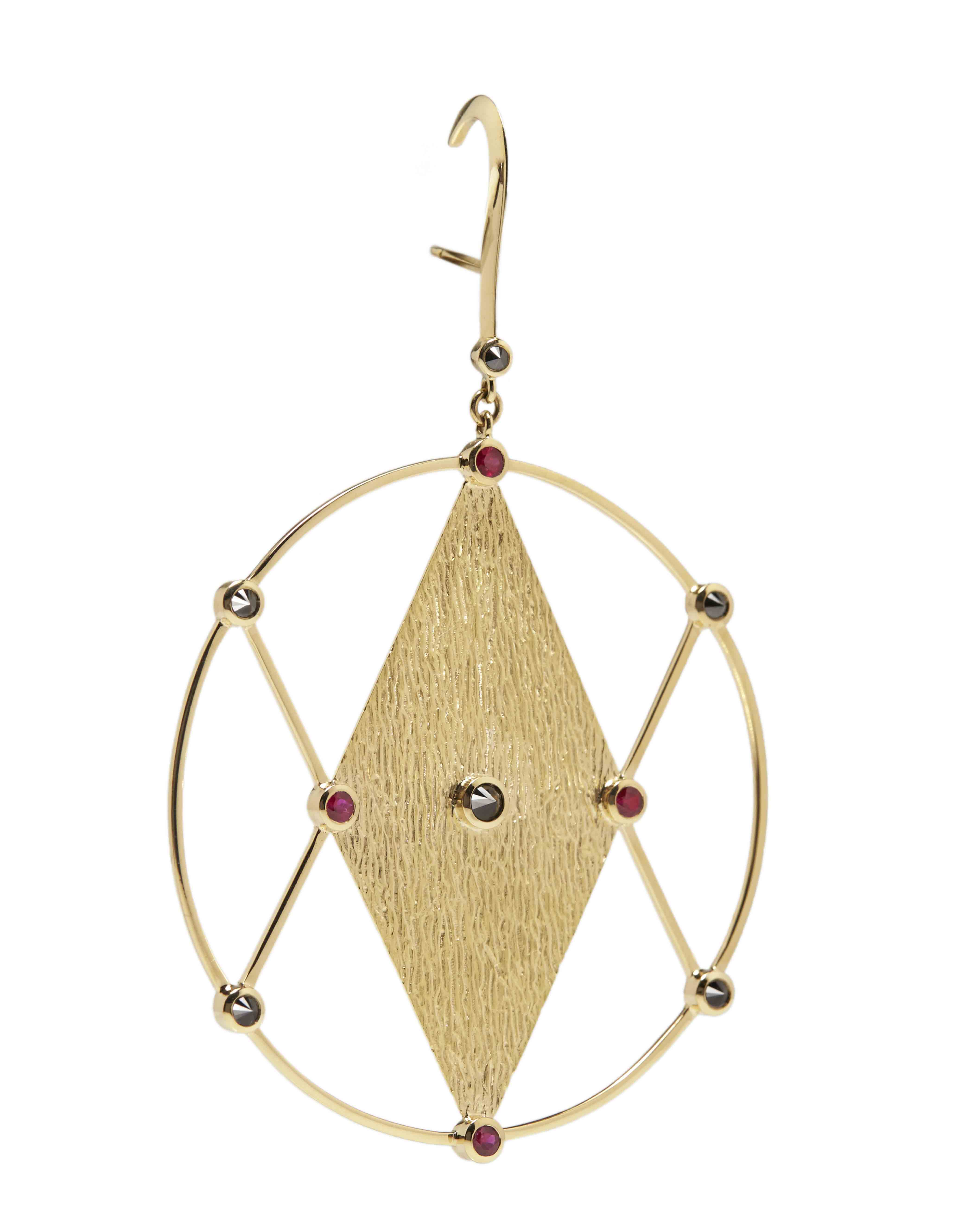 Ara Vartanian X Kate Moss diamond & gold single earring xi66gJd0