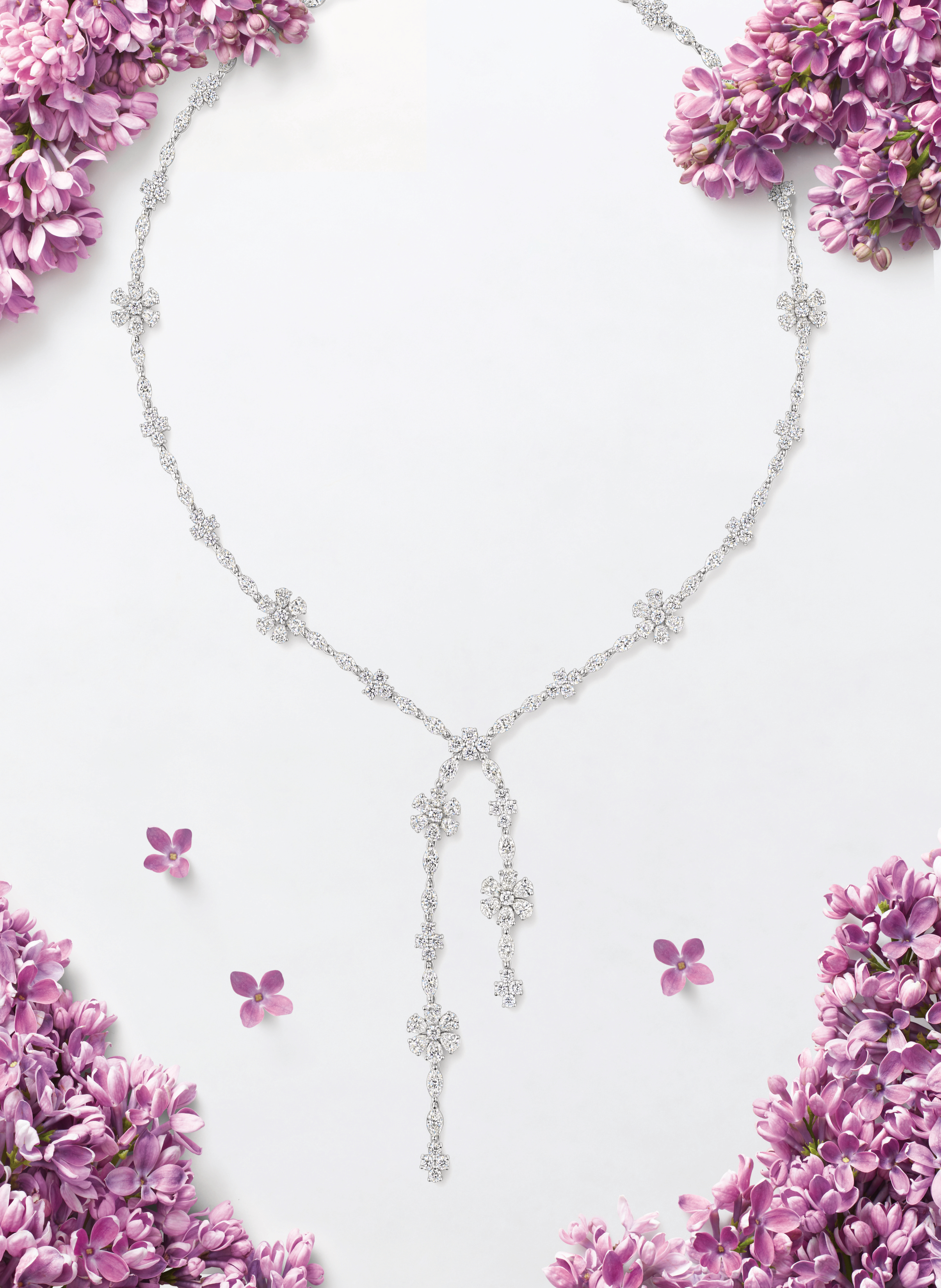 Winston Garden Forget Me Not Necklace