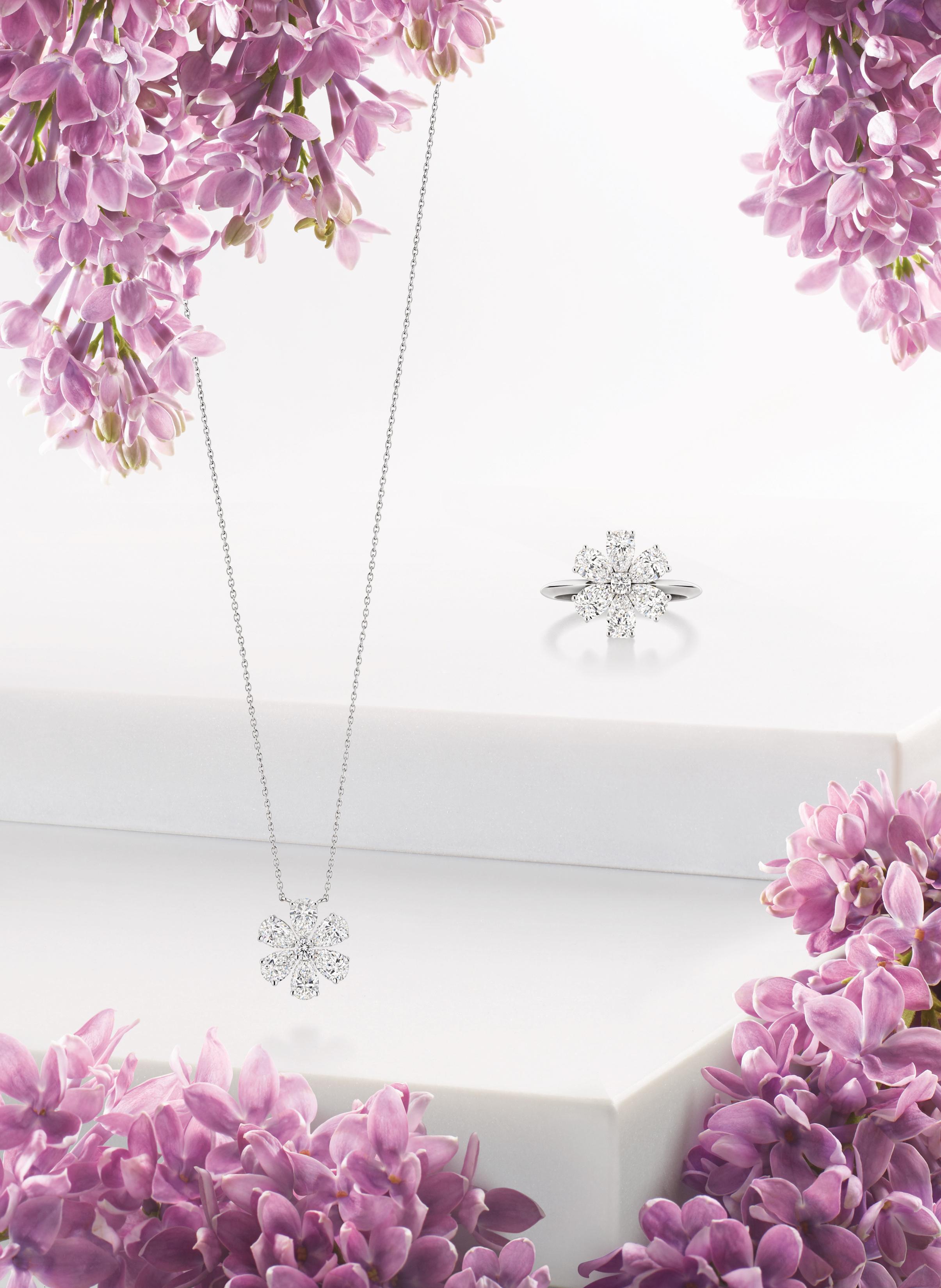 Winston Garden Forget-Me-Not Ring & Pendant