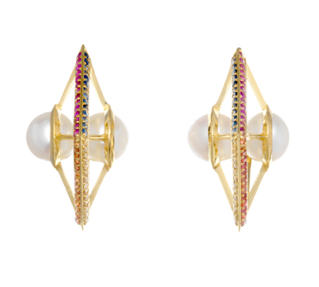 Milky Way earrings by Sammie Jo Coxon