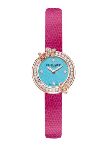 Fuschia Hortensia watch by Chaumet