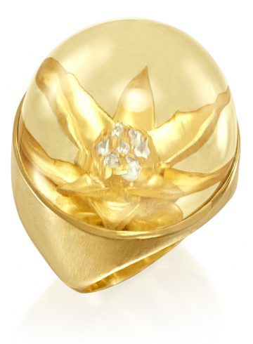 Flower Bromelia Ring by Rose Carvalho