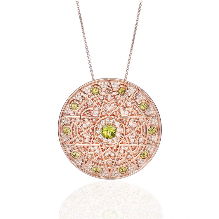 Damali pendant with peridot and diamond