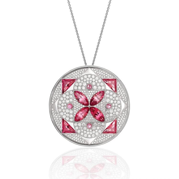 Damali pendant with tourmaline and diamond