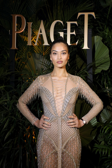 GENEVA, SWITZERLAND - JANUARY 15:  Shanina Shaik attends the #Piaget dinner at the Country Club during the #SIHH2018 on January 15, 2018 in Geneva, Switzerland.  (Photo by Remy Steiner/Getty Images for Piaget) *** Local Caption *** Shanina Shaik