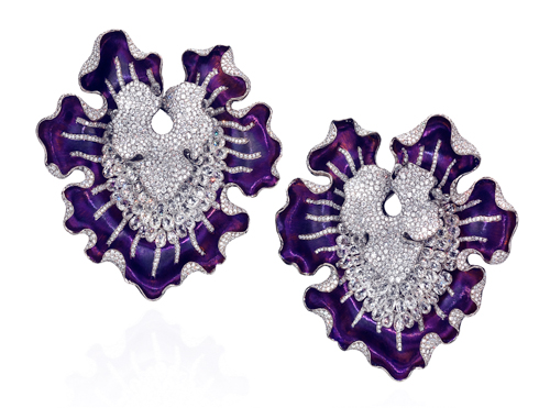ANNA HU Myth of the Orchid Earrings