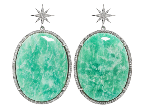 Amazonite Starburst Earrings by Hasanthi Ovesen