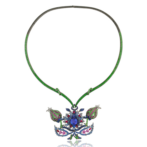 Lydia Courteille flower necklace