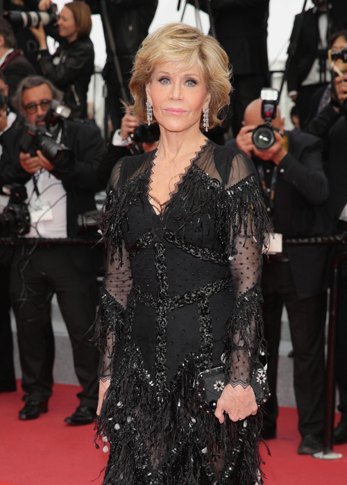 "CANNES, FRANCE - MAY 13:  Actress Jane Fonda attends the screening of ""Sink Or Swim (Le Grand Bain)"" during the 71st annual Cannes Film Festival at Palais des Festivals on May 13, 2018 in Cannes, France.  (Photo by Andreas Rentz/Getty Images) *** Local Caption *** Jane Fonda"
