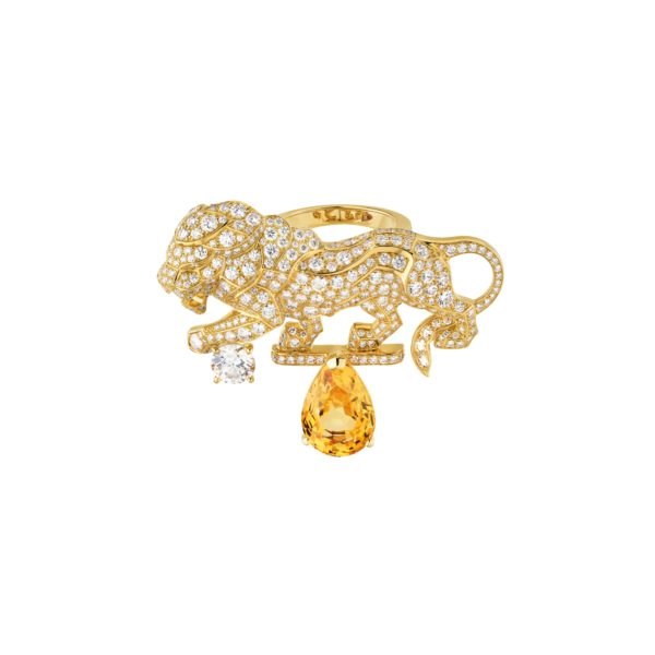 3. Chanel, Bague Timeless in yellow gold with yellow sapphires and diamonds jpg