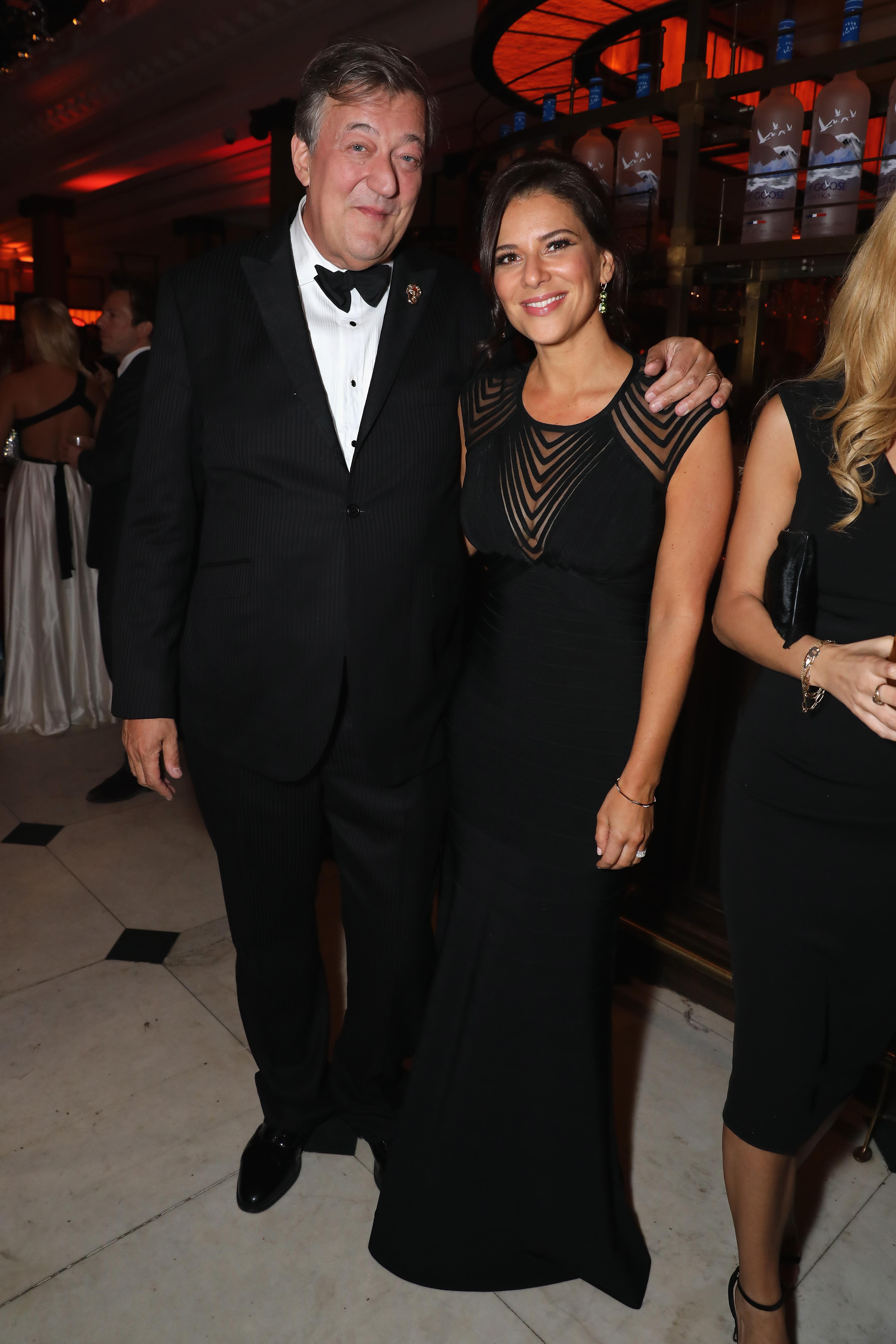 Stephen Fry and Kat Florence