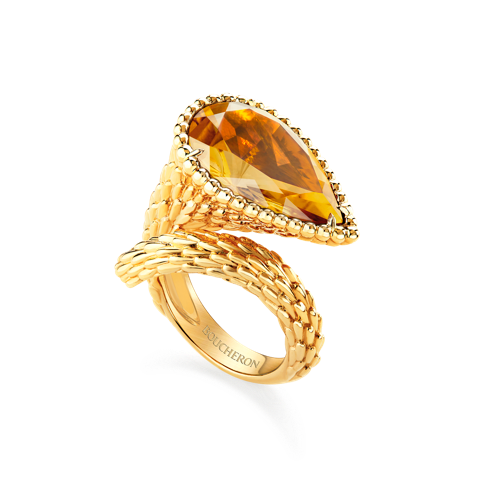 Boucheron Serpent ring Citrine