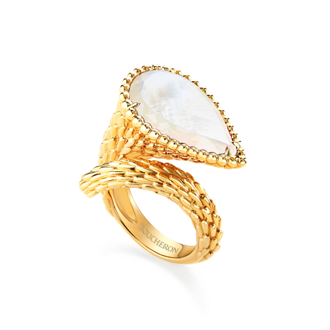 Boucheron Serpent ring mother of pearl