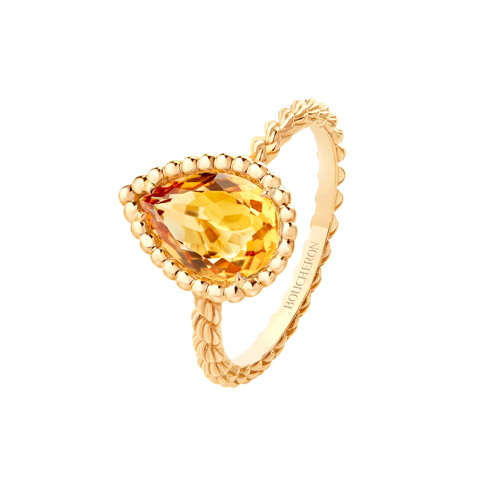 Citrine Serpent ring