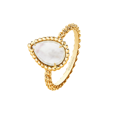 Mother of pearl Serpent ring