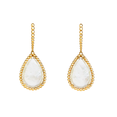 Mother of pearl Serpent earrings