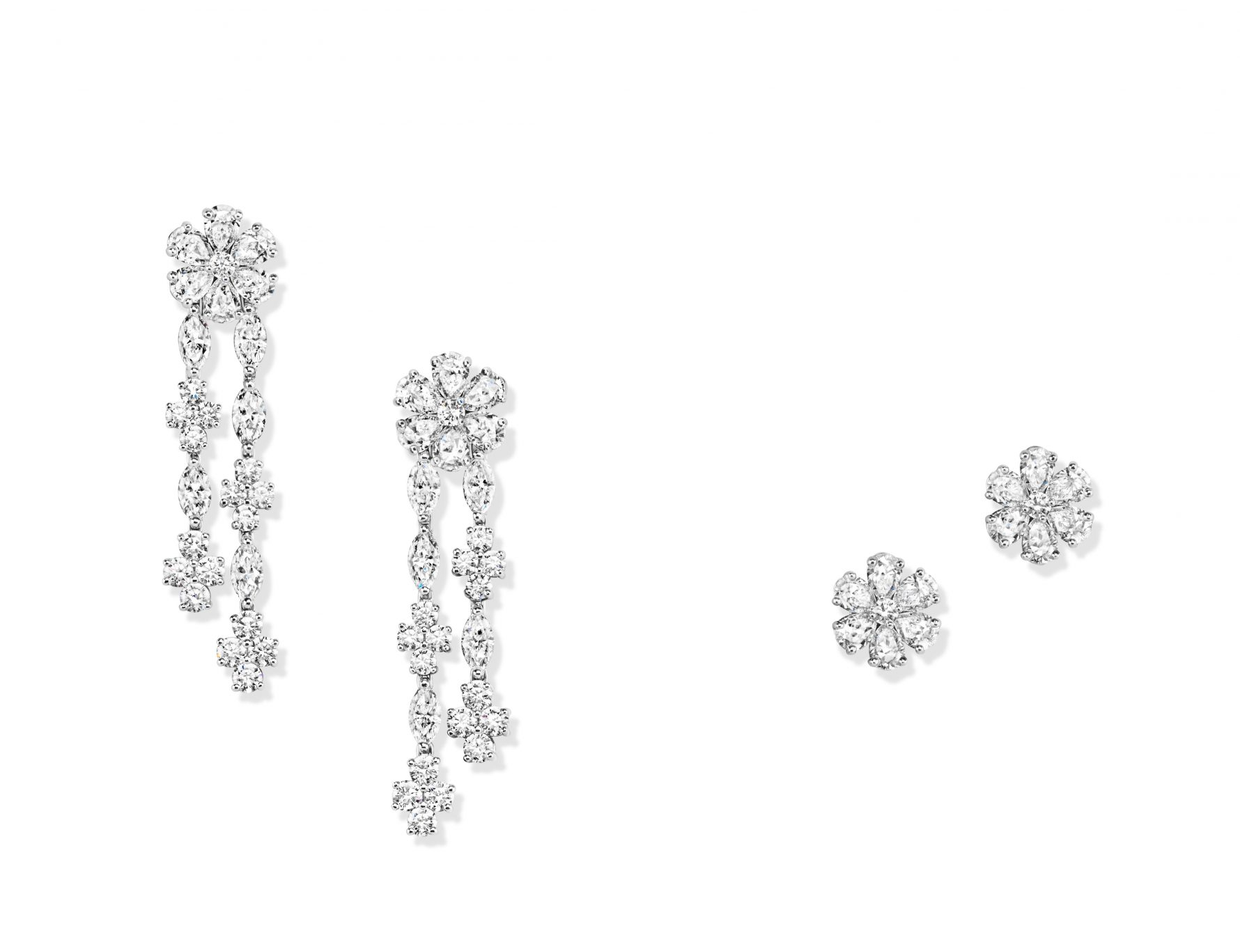 Forget-Me-Not by Harry Winston earrings