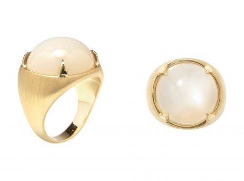 Kate Moss X Ara Vartanian 18kt yellow gold and moonstone ring