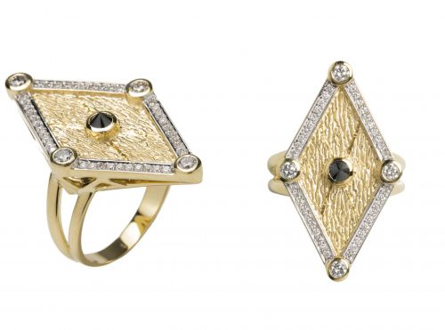 Kate Moss X Ara Vartanian 18kt yellow gold with white and black diamonds