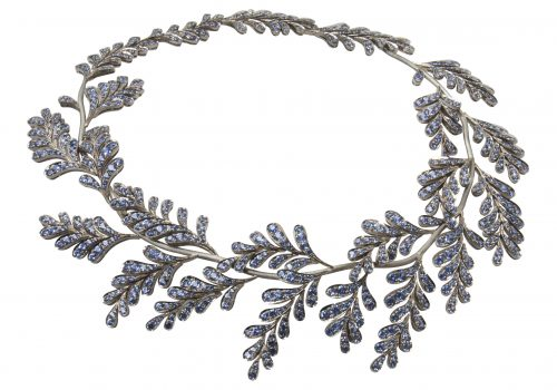 Wisteria Necklace: 54.60cts of blue sapphire set in 18ct white gold