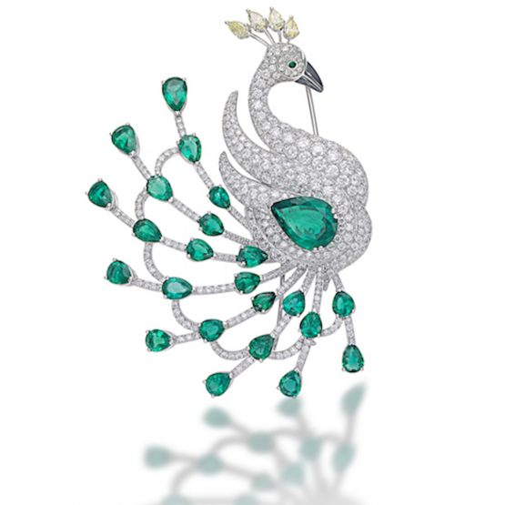 Peacock brooch by Picchiotti