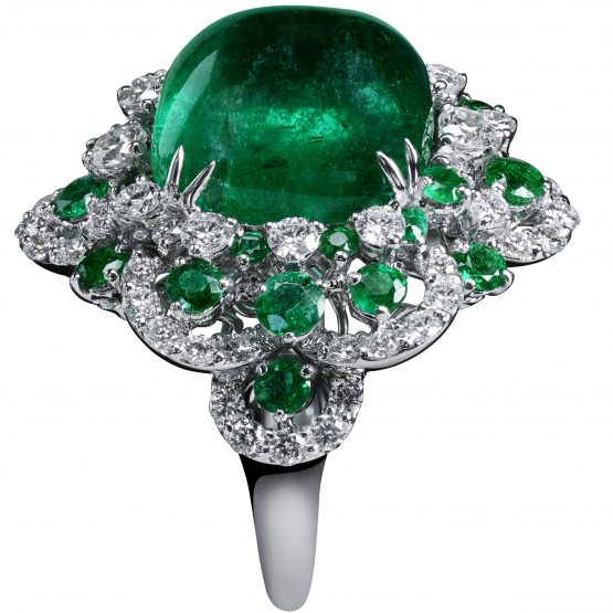 Sugerloaf emerald ring by Crivelli