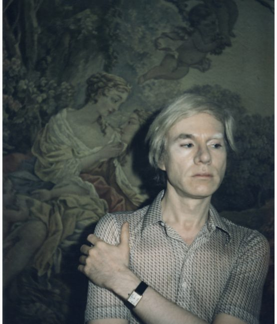 Andy Warhol wearing his Cartier watch