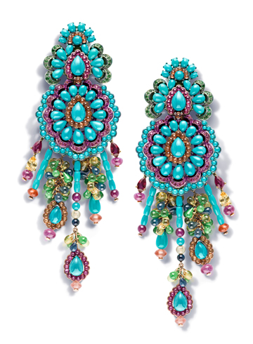 Carnival earrings by Rihanna ♥ Chopard