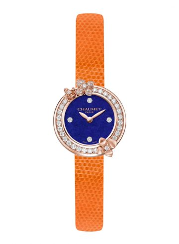 Orange Hortensia watch by Chaumet
