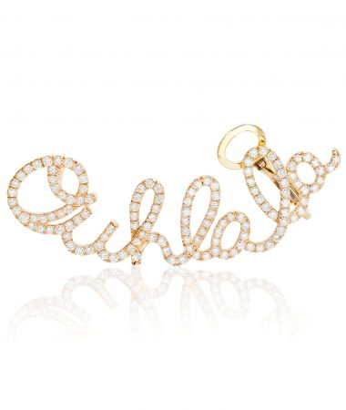 Yellow gold Ouhlala ear cuff by Lily Gabriella