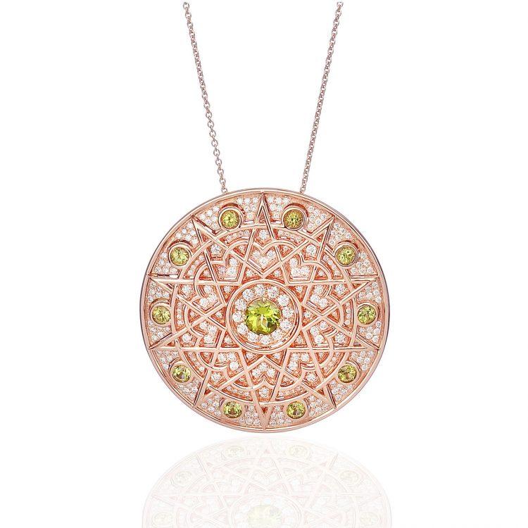 Damali pendant with peridot and diamond