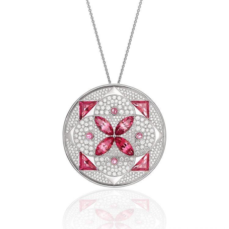 Damali pendant with tourmaline and diamond