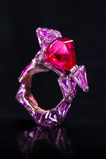 Ruby Castle Ring