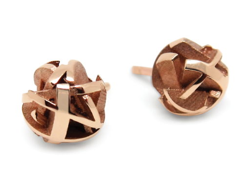 EDITED- Fairina Cheng_Negative Positive 3D printed rose gold stud earrings_ CMYK