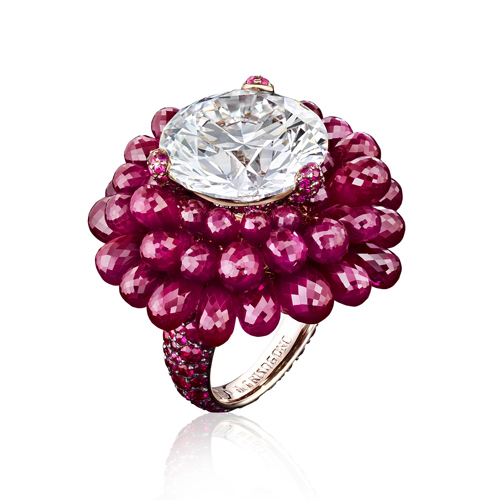De Grisogono, white gold with diamond and rubies
