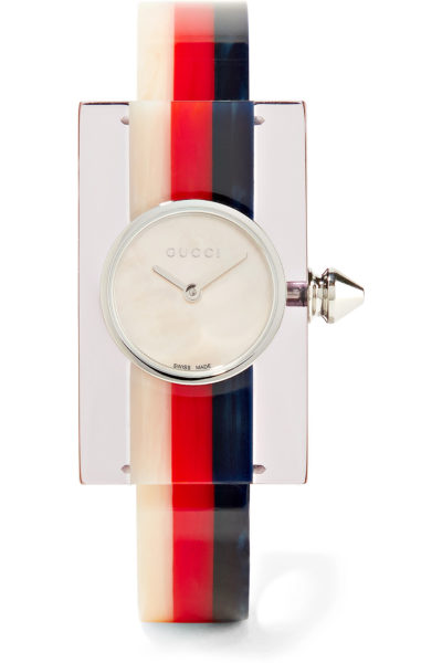 Plexitone silver-tone watch - Gucci