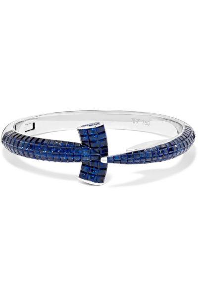 18-karat white gold sapphire bracelet - Stephen Webster