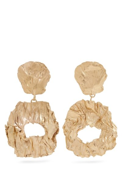 Stranger yellow gold plated clip on earrings - Orit Elhanati