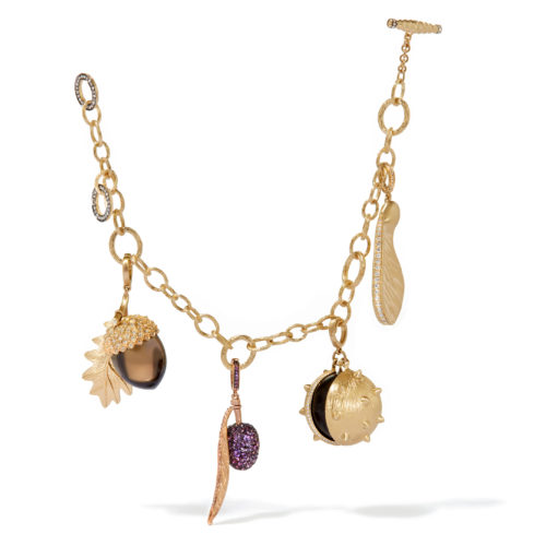 Annoushka 18ct Gold Mythology Seeds Charm Bracelet