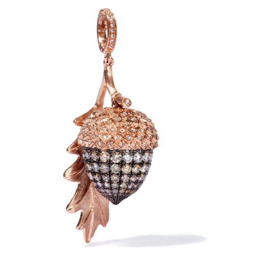 Annoushka 18ct Rose Gold & Diamond Mythology Acorn Charm £6,500