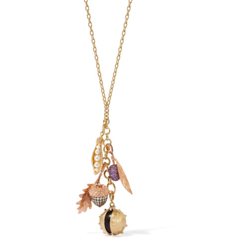 Annoushka 18ct Rose Gold & Diamond Mythology Acorn Charm