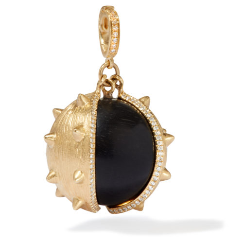 Annoushka 18ct Yellow Gold, Ebony & Diamond Mythology Conker Charm £3,500