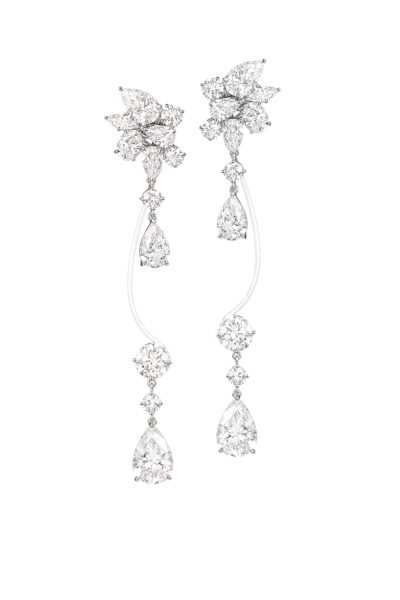 Chopard, diamond earrings set in white gold
