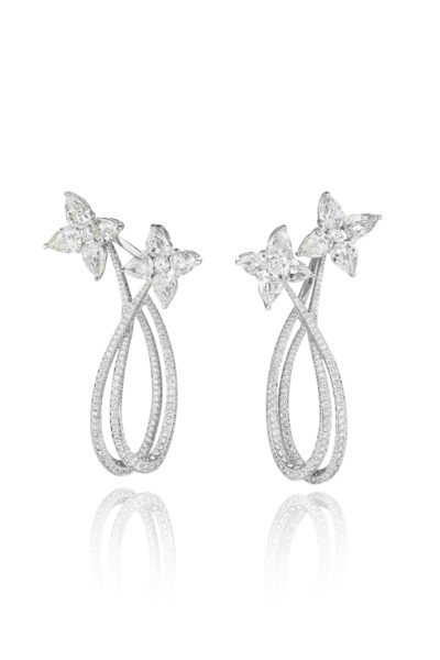 Chopard, white gold and diamond earrings